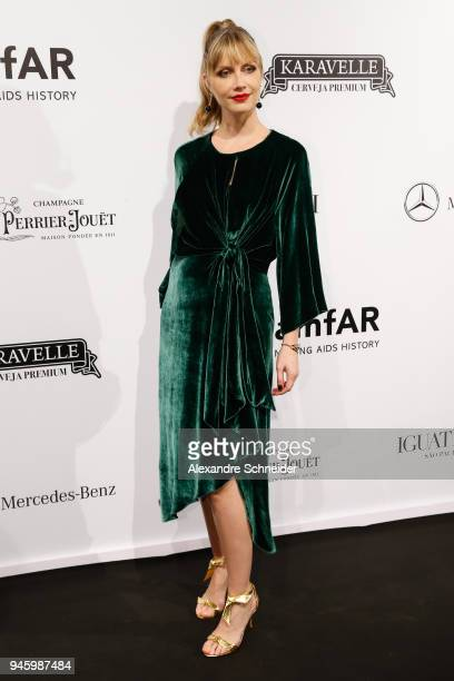Ana Claudia Michels attends during the 2018 amfAR Gala Sao Paulo at the home of Dinho Diniz on April 13 2018 in Sao Paulo Brazil