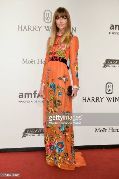 Ana Claudia Michels attends the 7th Annual amfAR Inspiration Gala on April 27 2017 in Sao Paulo Brazil