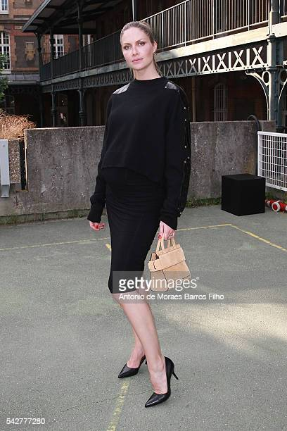 Ana Claudia Michels attends the Givenchy Menswear Spring/Summer 2017 show as part of Paris Fashion Week on June 24 2016 in Paris France
