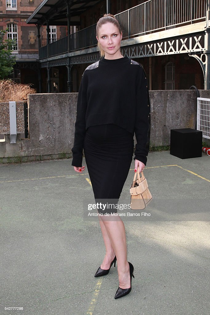 Ana Claudia Michels attends the Givenchy Menswear Spring/Summer 2017 show as part of Paris Fashion Week on June 24, 2016 in Paris, France.