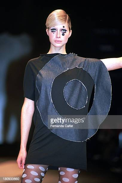 Ana Claudia Michels during 2001 Sao Paulo Fashion Week Carlota Joaquina at Bienal Ibirapuera in Sao Paulo Sao Paulo Brazil