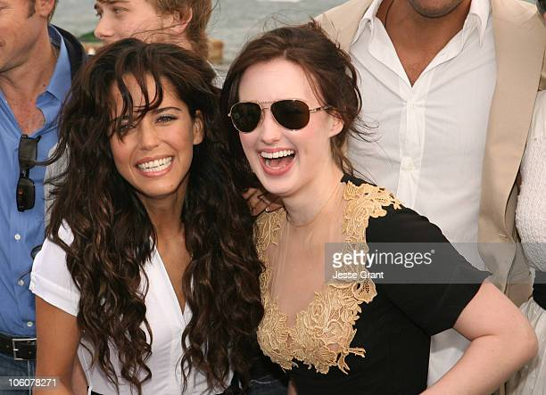Ana Claudia Talancon and Ashley Johnson during 2006 Cannes Film Festival Fast Food Nation Cocktail Party at American Pavillion in Cannes France
