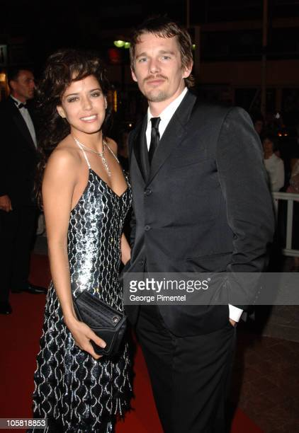 Ana Claudia Talancon and Ethan Hawke during 2006 Cannes Film Festival Fast Food Nation Departures at Palais Du Festival in Cannes France