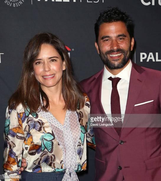 Ana Claudia Talancon and Ignacio Serricchio from 'El Recluso' attend The Paley Center for Media's 2018 PaleyFest Fall TV Previews Telemundo at The...