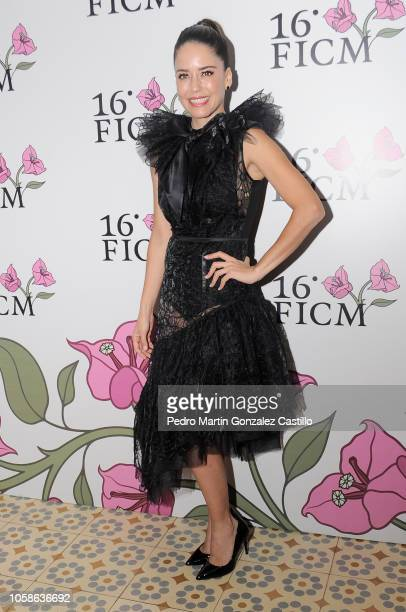 Ana Claudia Talancon attends the red carpet for Perfect Unknowns by Manolo Caro during the International Film Festival of Morelia 2018 at on October...