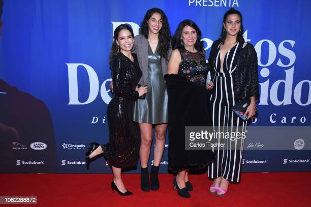 Ana Claudia Talancon poses for photos during a red carpet as part of the film 'Perfectos Desconocidos' premiere at Cinepolis Diana on December 13...