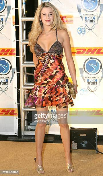 Ana Cristina Alvarez during 2005 Premios Fox Sports - Arrivals at Jackie Gleason Theater in Miami Beach, Florida, United States.