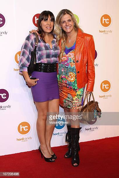 Ana Cristina Fox and Beatriz Samano attend the launch of Hard Candy Fitness Global Gyms at Bosques de Duraznos Tecamachalco on November 29, 2010 in...