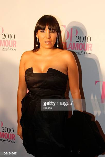 Ana Cristina Fox arrives for the ceremony of Top Glamour Awards 2010 at Lienzo Charro Constituyentes on October 28 2010 in Mexico City Mexico