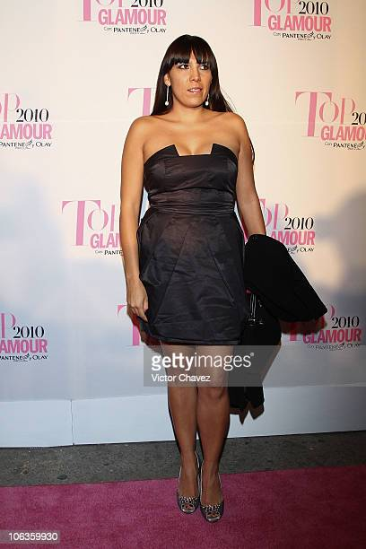 Ana Cristina Fox attends the Top Glamour Awards 2010 pink carpet at Casino Del Bosque on October 28, 2010 in Mexico City, Mexico.