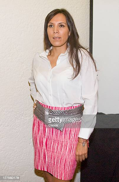 Ana Cristina Fox during the press conference to give details of the next concert of Carlos Santana at the Estadio Nou Camp in Leon Guanajuato on...