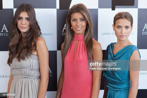 Ana Cristina Portillo Ana Boyer and Ana Fernandez present new designs for Codorniu Christmas Spot at COAM on September 13 2012 in Madrid Spain