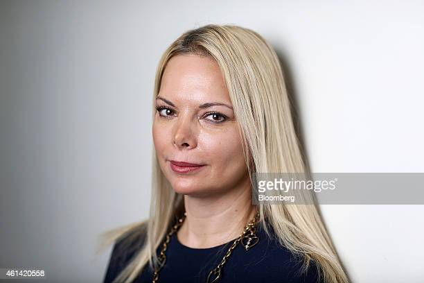 Ana Cukic Armstrong chief executive officer of Armstrong Investment Managers LLP poses for a photograph following a Bloomberg Television interview in...