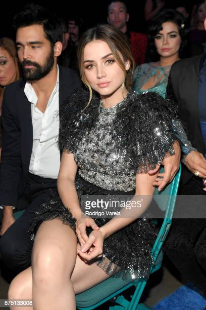 Ana de Armas and Alejandro Pineiro Bello attend The 18th Annual Latin Grammy Awards at MGM Grand Garden Arena on November 16 2017 in Las Vegas Nevada