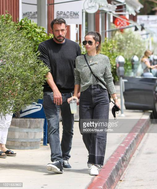 Ana de Armas and Ben Affleck are seen on June 20, 2020 in Los Angeles, California.