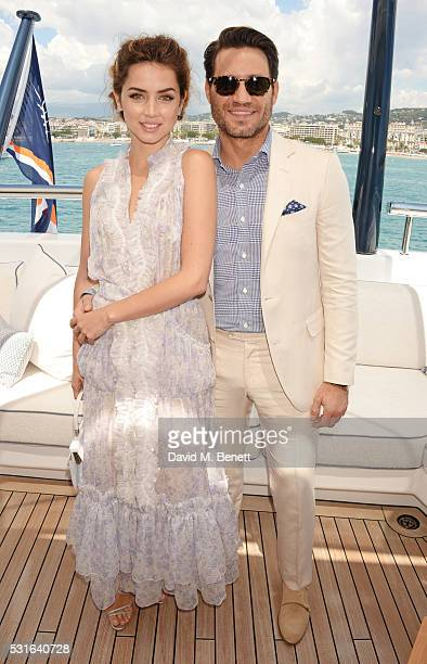 Ana de Armas and Edgar Ramirez attend a private luncheon hosted by Len Blavatnik and Harvey Weinstein aboard Odessa II on May 15 2016 in Cannes France