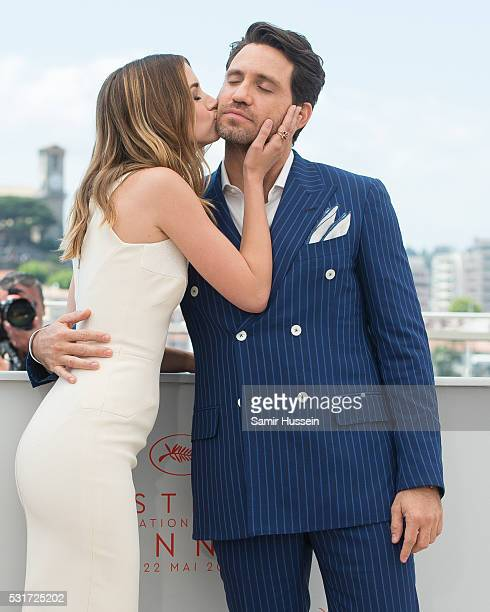 Ana de Armas and Edgar Ramirez attend the 'Hands Of Stone' Photocall at the annual 69th Cannes Film Festival at Palais des Festivals on May 16 2016...