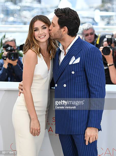 Ana de Armas and Edgar Ramirez attend the 'Hands Of Stone' photocall during the 69th annual Cannes Film Festival at the Palais des Festivals on May...