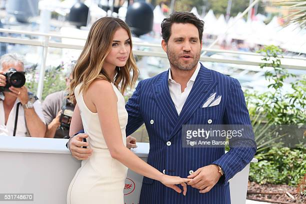 Ana de Armas and Edgar Ramirez attend the 'Hands Of Stone' Photocall during the 69th annual Cannes Film Festival on May 16 2016 in Cannes France