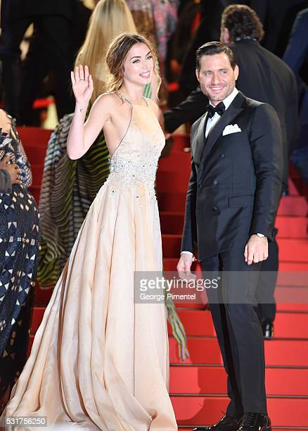 Ana de Armas and Edgar Ramirez attends the screening of Hands Of Stone at the annual 69th Cannes Film Festival at Palais des Festivals on May 16 2016...