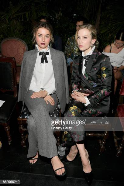 Ana de Armas and Sylvia Hoeks at HM x ERDEM Runway Show Party at The Ebell Club of Los Angeles on October 18 2017 in Los Angeles California