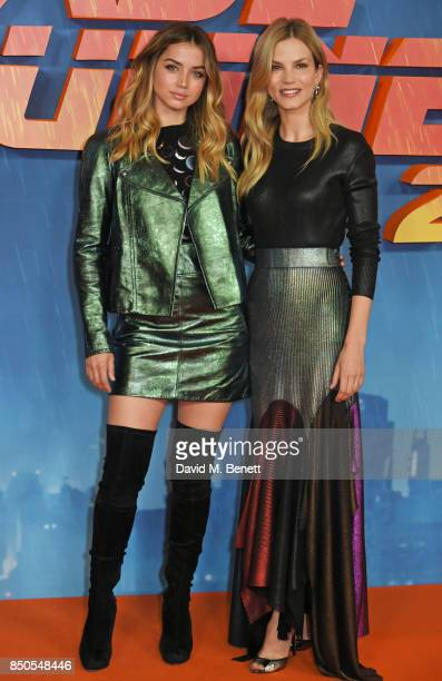 Ana de Armas and Sylvia Hoeks attend the Blade Runner 2049 photocall at The Corinthia Hotel on September 21 2017 in London England