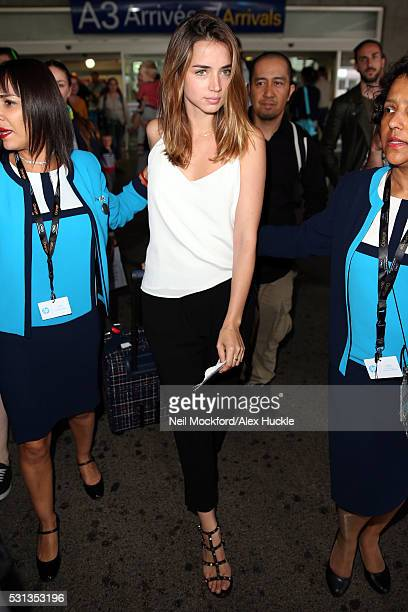 Ana de Armas arrives at Nice Airport ahead of the 69th Annual Cannes Film Festival on May 14 2016 in Nice France
