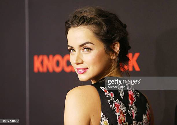 Ana de Armas arrives at the Los Angeles premiere of 'Knock Knock' held at TCL Chinese Theatre on October 7 2015 in Hollywood California