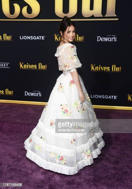 Ana de Armas arrives at the premiere of Lionsgate's Knives Out at the Regency Village Theatre on November 14 2019 in Westwood California