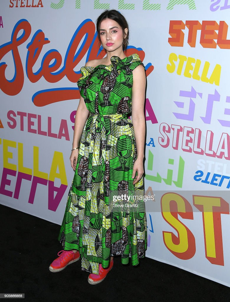 Ana de Armas arrives at the Stella McCartney's Autumn 2018 Collection Launch on January 16, 2018 in Los Angeles, California.