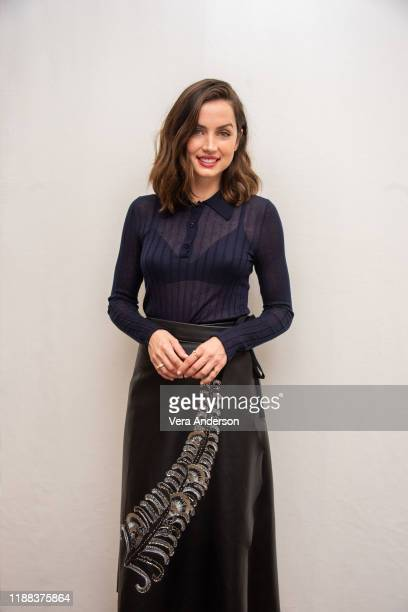 Ana de Armas at the Knives Out Press Conference at the Four Seasons Hotel on November 15 2019 in Beverly Hills California