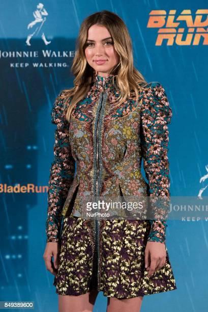 Ana de Armas atends the 'Blade Runner 2049' movie photocall at 'Villamagna Hotel' in Madrid on September 19 2017