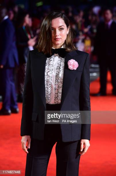 Ana de Armas attending the European premiere of Knives Out held as part of the BFI London Film Festival 2019 at the Odeon Luxe Leicester Square in...