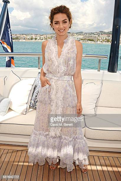 Ana de Armas attends a private luncheon hosted by Len Blavatnik and Harvey Weinstein aboard Odessa II on May 15 2016 in Cannes France