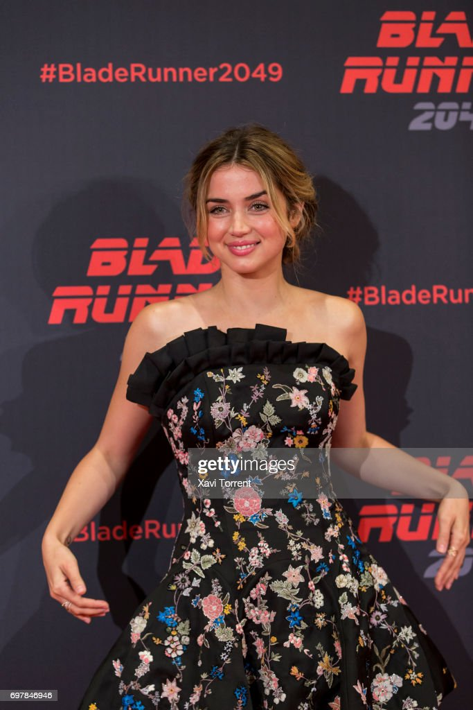 Ana de Armas attends 'Blade Runner 2049' photocall at Arts Hotel on June 19, 2017 in Barcelona, Spain.