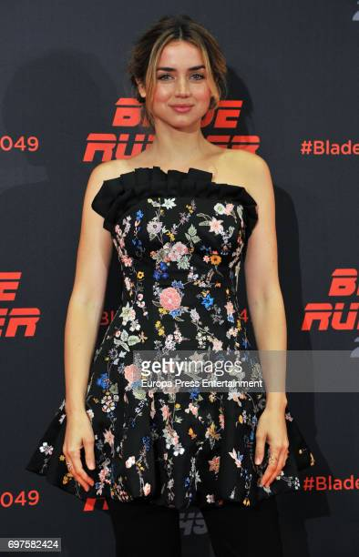 Ana de Armas attends 'Blade Runner 2049' photocall during at Arts Hotel on June 19 2017 in Barcelona Spain