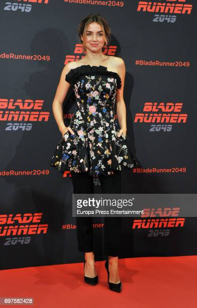 Ana de Armas attends 'Blade Runner 2049' photocall during at Arts Hotel on June 19, 2017 in Barcelona, Spain.