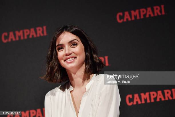 Ana de Armas attends Campari Red Diaries 2019 Press Conference at Cinema Anteo on February 05 2019 in Milan Italy