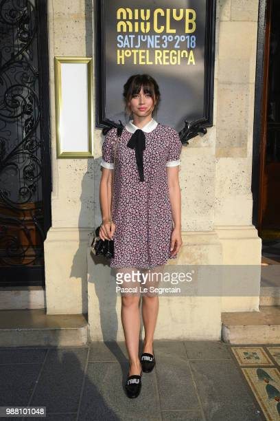 Ana de Armas attends Miu Miu 2019 Cruise Collection Show at Hotel Regina on June 30 2018 in Paris France