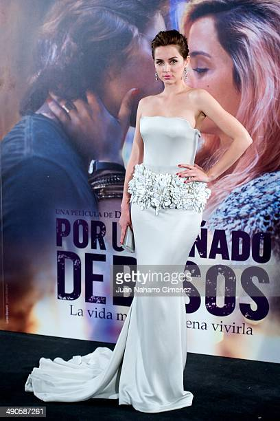 Ana de Armas attends 'Por Un Punado De Besos' premiere at Callao Cinema on May 14 2014 in Madrid Spain