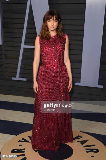 Ana de Armas attends the 2018 Vanity Fair Oscar Party hosted by Radhika Jones at the Wallis Annenberg Center for the Performing Arts on March 4 2018...