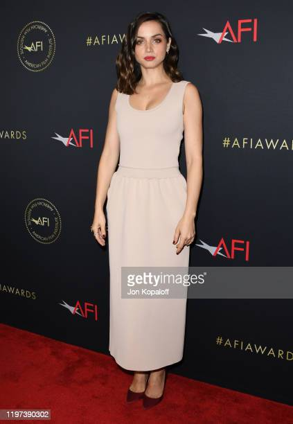Ana de Armas attends the 20th Annual AFI Awards at Four Seasons Hotel Los Angeles at Beverly Hills on January 03 2020 in Los Angeles California
