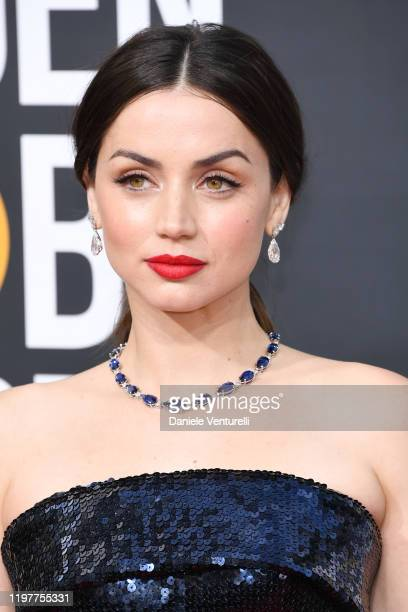 Ana de Armas attends the 77th Annual Golden Globe Awards at The Beverly Hilton Hotel on January 05 2020 in Beverly Hills California