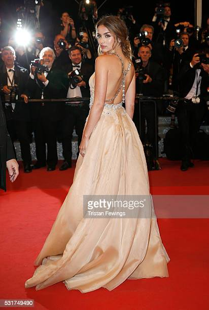 Ana de Armas attends the 'Hands Of Stone' premiere during the 69th annual Cannes Film Festival at the Palais des Festivals on May 16 2016 in Cannes...
