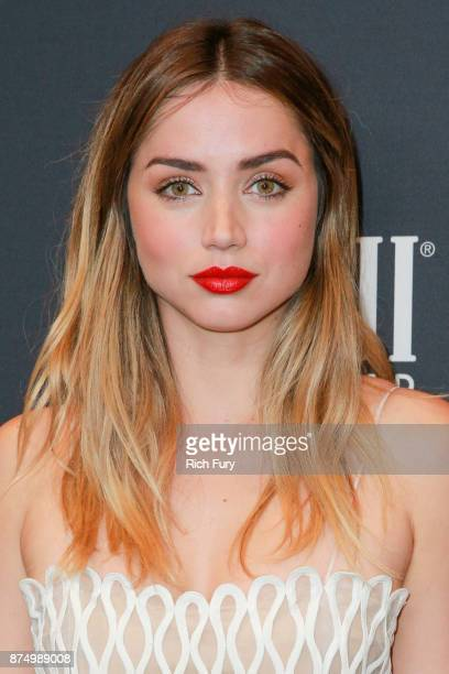 Ana de Armas attends the Hollywood Foreign Press Association and InStyle celebrate the 75th Anniversary of The Golden Globe Awards at Catch LA on...