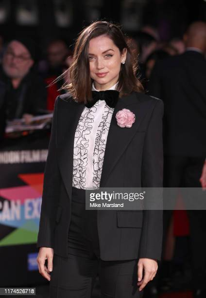 Ana de Armas attends the Knives Out European Premiere during the 63rd BFI London Film Festival at the Odeon Luxe Leicester Square on October 8 2019...