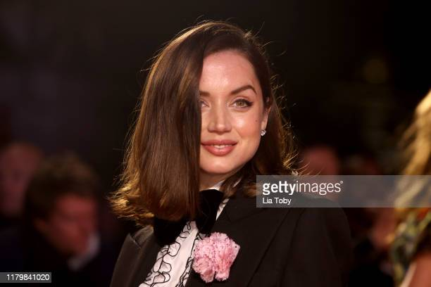 Ana de Armas attends the Knives Out European Premiere during the 63rd BFI London Film Festival at the Odeon Luxe Leicester Square on October 08 2019...