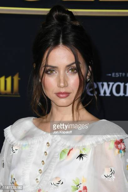 Ana de Armas attends the premiere of Lionsgate's Knives Out at Regency Village Theatre on November 14 2019 in Westwood California