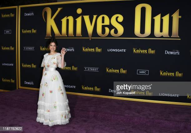 """Ana de Armas attends the premiere of Lionsgate's """"Knives Out"""" at Regency Village Theatre on November 14, 2019 in Westwood, California."""