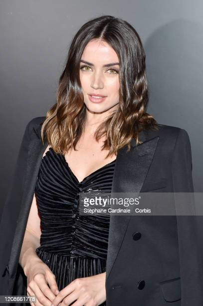Ana de Armas attends the Saint Laurent show as part of the Paris Fashion Week Womenswear Fall/Winter 2020/2021 on February 25, 2020 in Paris, France.
